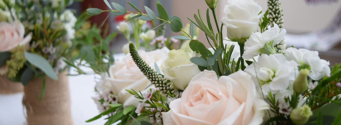 Close up of flower arrangement
