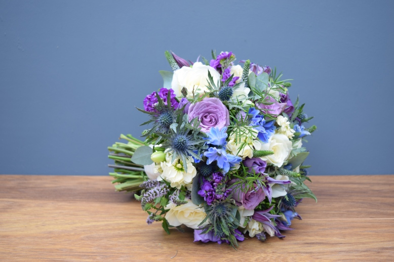 Domed and textured bridal bouquet