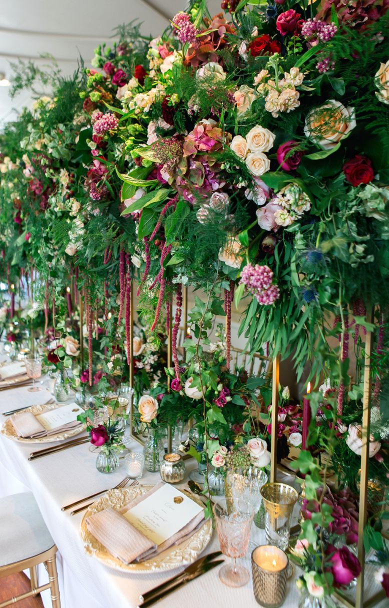 Elevated wedding flowers
